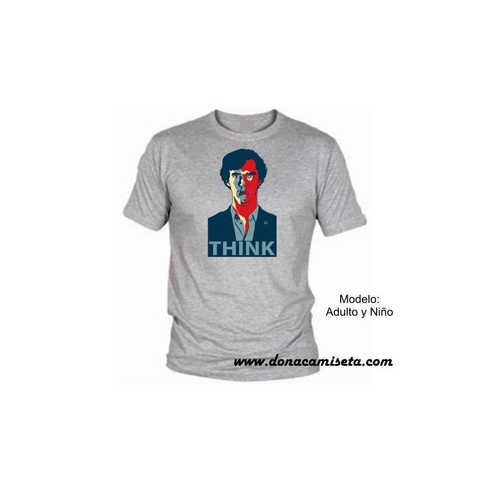 Camiseta mc Sherlock Think