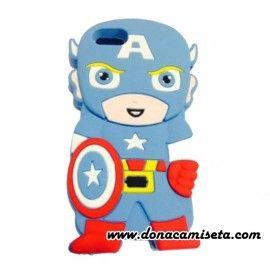 Funda Iphone 4 y 5 Capitán América