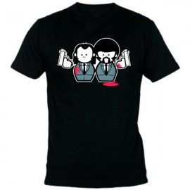 Camiseta MC Unisex Pulp Fiction Muñecos
