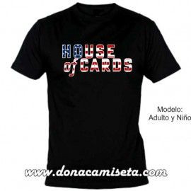 Camiseta MC House of Cards texto bandera