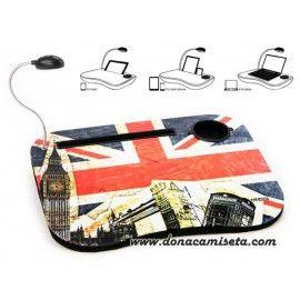 Mesa ordenador portátil con luz Bandera Inglesa