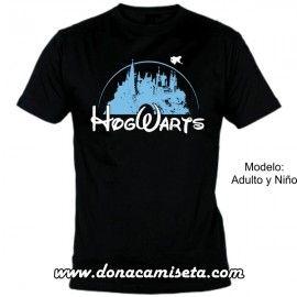 Camiseta MC Hogwarts estilo disney