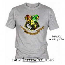 Camiseta MC Hogwarts escudo color