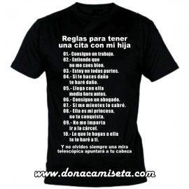 Camiseta MC Reglas para tener una cita con mi hija