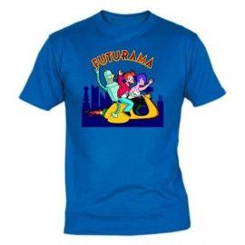 Camiseta MC Unisex Futurama Moto