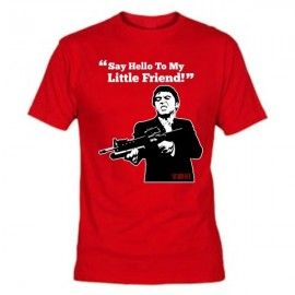 Camiseta MC Unisex Scarface Metralleta