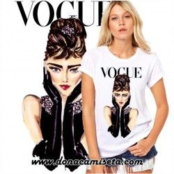 Camiseta Audrey cara Vogue