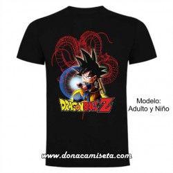 Camiseta Dragon Ball Goku Onda Vital líneas