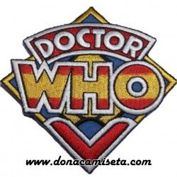 Parche Bordado Dr. Who logo