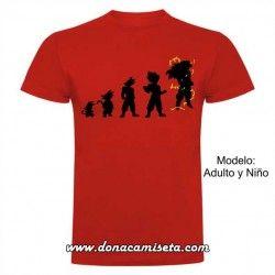 Camiseta Saiyan Evolution