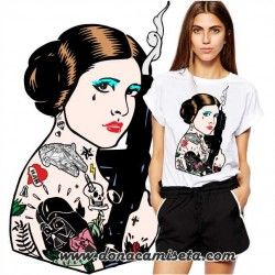 Camiseta Princesa Leia Tatoo