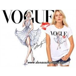 Camiseta Marilyn beso Vogue