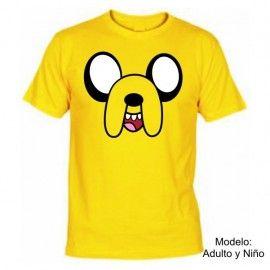Camiseta MC Unisex Jake Hora de Aventuras
