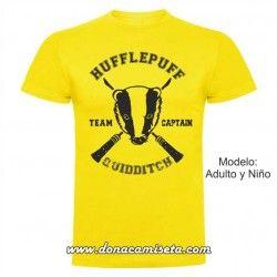 Camiseta Hufflepuff Quidditch Team Captain (Harry Potter)