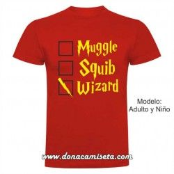 Camiseta Muggle, Squib, Wizard (Harry Potter)