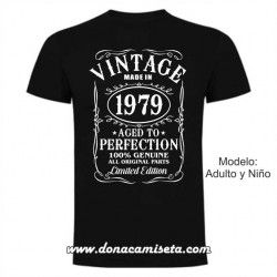 Camiseta Vintage Born to (año personalizable)