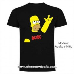 Camiseta  Homer ACDC