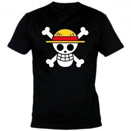 Camiseta MC Unisex One Piece Calavera Pirata