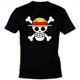 Camiseta MC Unisex One Piece Calavera Pirata