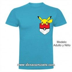 Camiseta Pikachu bolsillo