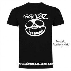 Camiseta Gorillaz logo cara