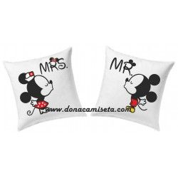 Pack 2 Cojines Mr & Mrs ratones