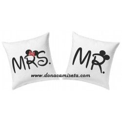 Pack 2 Cojines Mr & Mrs letras