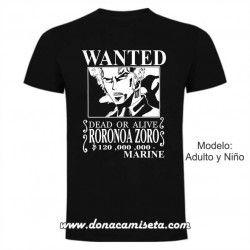 Camiseta Wanted Zoro