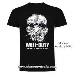 Camiseta Wall of Duty caminante blanco