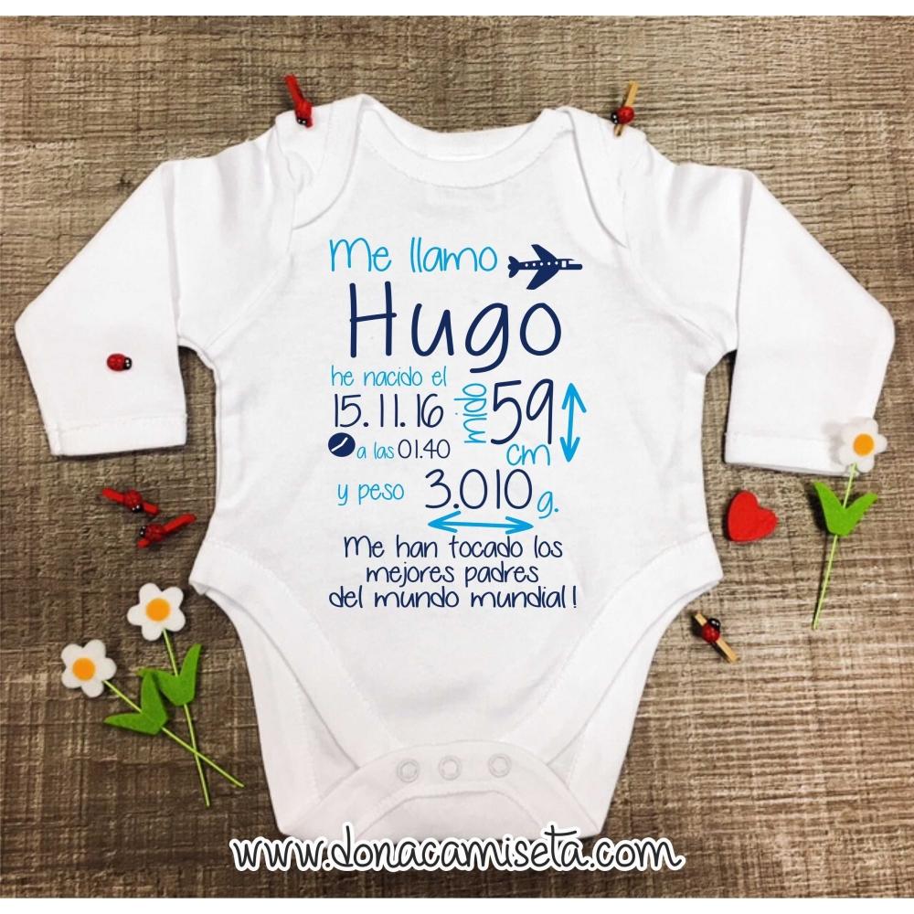 Body Bebé Personalizado Nacimento