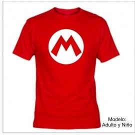 Camiseta MC Super Mario Logo M
