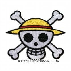 Parche Bordado One Piece calavera Luffy