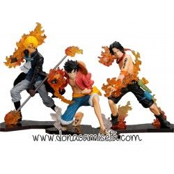 Pack 3 figuras One Piece : Luffy - Ace - Sabo