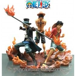 Pack 3 figuras One Piece : Luffy - Ace - Sabo 17cm