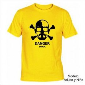 Camiseta MC Breaking Bad Danger Toxic