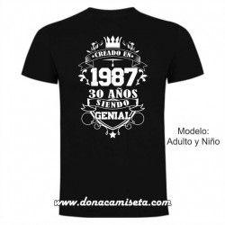 Camiseta Creado en años Siendo genial