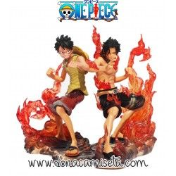 Pack 2 Figuras One Piece: Luffy y Ace
