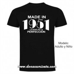 Camiseta Made in la edad de la perfección (Personalizable)