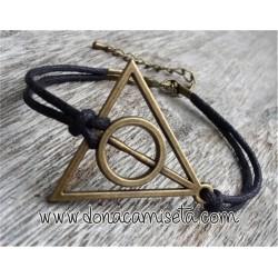 Pulsera fina Reliquias de la Muerte (Harry Potter)
