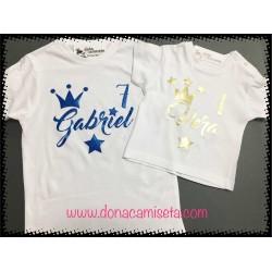 Camiseta Corona nombre y edad
