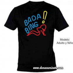 Camiseta MC Bada Bing cartel (Los Soprano)