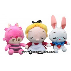 Pack 3 Peluches Alicia Wonderland