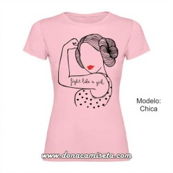 Camiseta Fight like a girl Leia