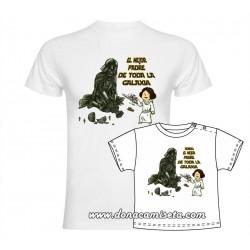 Camiseta El mejor padre de toda la Galaxia Leia