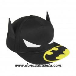 Gorra Batman orejas y logo visera plana premium