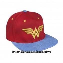 Gorra Wonder Woman logo 3D visera plana premium