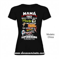 3b1199e2f Camiseta Mamá Superheroina Favorita colores