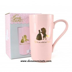 Taza Latte Disney Beauty and the Beast rosa / oro