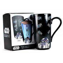 Taza Latte Star Wars Leia y R2-D2  Mágica 400ml