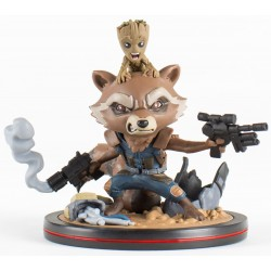 Figura Rocket & Groot Marvel Q-Fig 12 cm Guardianes de la Glaxia 2